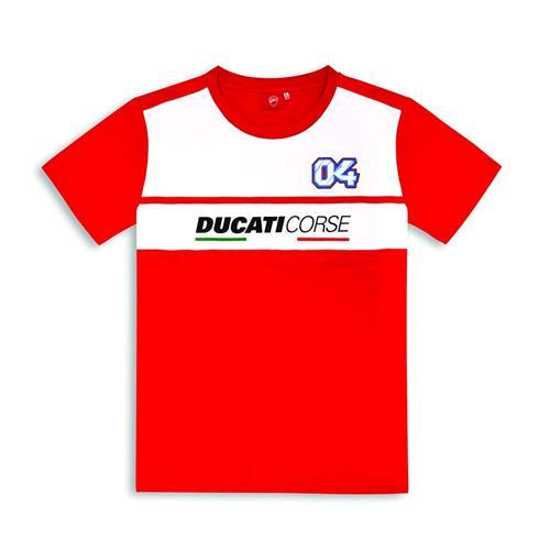 Ufficiale 2019 Ducati T-Shirt Maglia Nera Uomo Corse